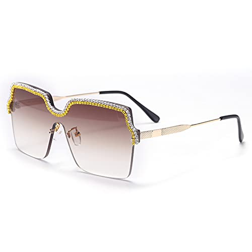 LUOXUEFEI Gafas De Sol Gafas De Sol De Gran Tamaño Gafas De Sol Sin Montura Para Mujer Gafas De Protección
