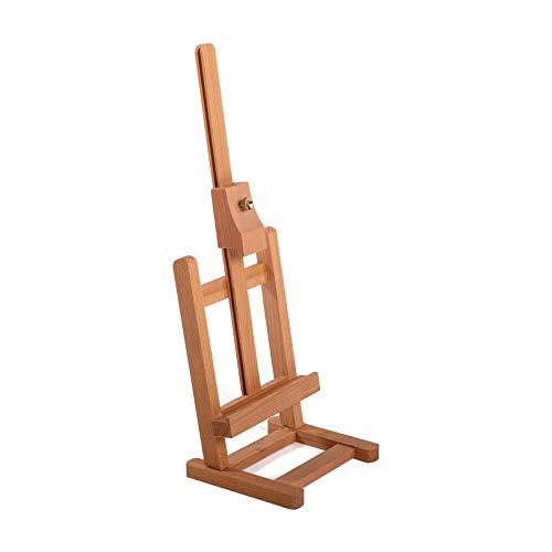 BK BILDERRAHMEN KOLMER Tisch STAFFELEI KREATIV | 42 cm, Ulmenholz, höhenverstellbar | Tischstaffelei, Holzstaffelei