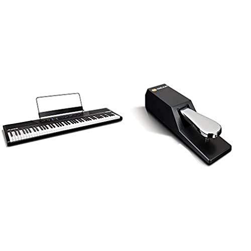 M-Audio Recital - 88-Tasten Einsteiger Digital Piano Keyboard mit halbgewichteten Tasten & M-Audio SP-2 - Universal Sustain Pedal mit Piano Style Action, das ideale Zubehör für MIDI-Keyboards