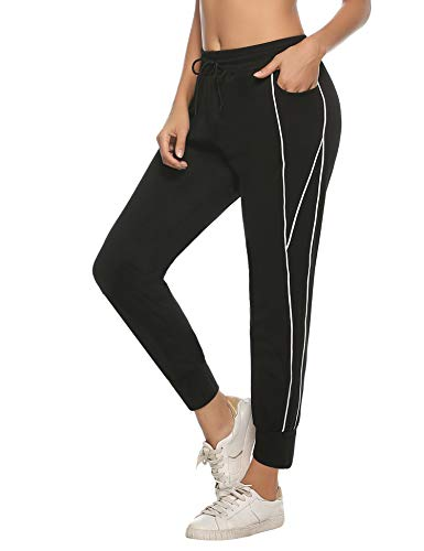 iClosam Pantalones Chandal Mujer Casuals Rayas AlgodóN De Deportivos Yoga Jogger Pantalon Sweatpants con Bolsillos Primavera Verano