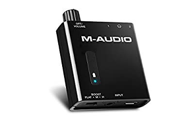 M-Audio Bass Traveler - Ultra-Portable Battery Powered Dual-Output Headphone Amplifier With 2-Level Boost from inMusic Europe Limited