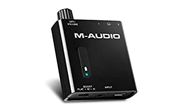 M-Audio Bass Traveler   Ultra-Portable Battery Powered Dual-Output Headphone Amplifier With 2-Level Boost