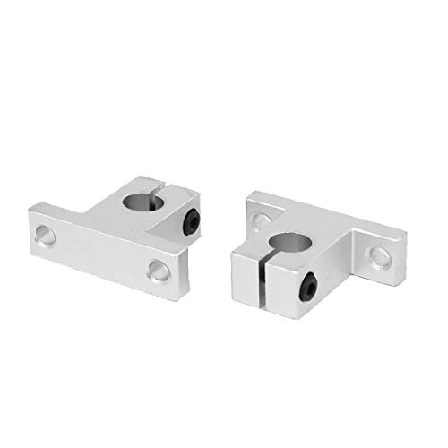 New Lon0167 SK10 10mm Featured Shaft Inner Diameter Reliable Efficacy Rail Linear Motion Guide Support Silver Tone 2pcs(id:bd1 9e 79 66e)
