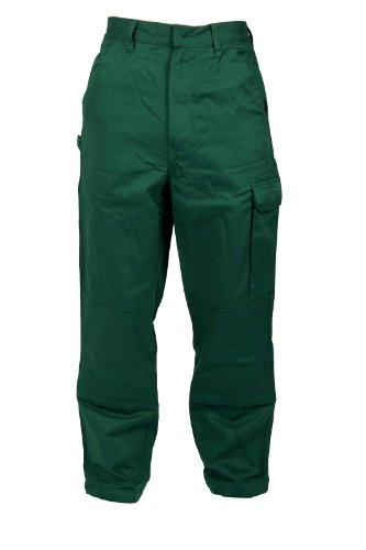 Stabile Bundhose Arbeitshose in Grün 100% Baumwolle IW087, 58