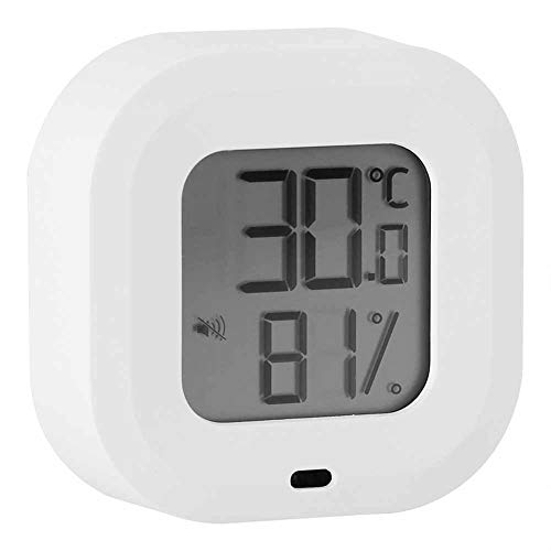 Temperature Humidity Monitor, Multi‑Language Switch Thermometer Hygrometer, Real‑Time Refrigerator Cold Room for Garage Wine Cellar Home(white)