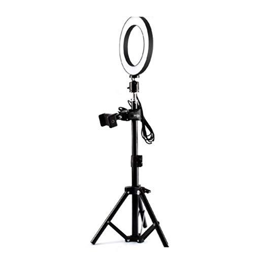 WYHM Escritorio Luz de Anillo de 10' con 83' Soporte Trípode LED Circle Light con Soporte Telefónico, Niña de Selfie Regulable para Fotografía de Maquillaje Universal (tamaño : 6in Lamp+83in Bracket)