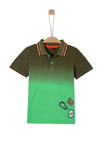 s.Oliver RED Label Jungen Poloshirt mit Farbverlauf Green 128/134.REG