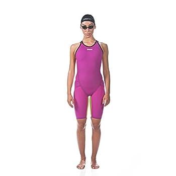 Arena Women s Limited Edition Powerskin Carbon Flex VX Open Back Tech Suit Swimsuit Fuchsia-Fluo Yellow - 30