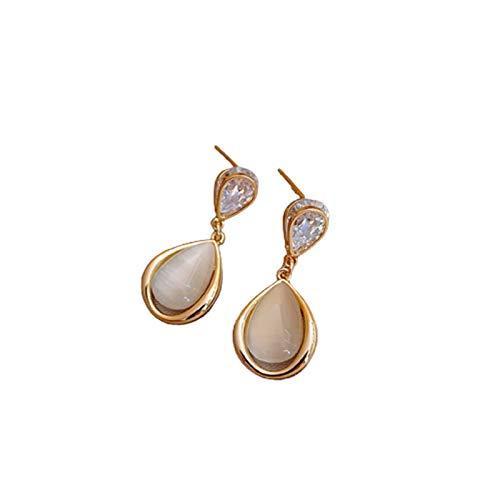 Ruby569y Pendientes colgantes para mujer y niña, pendientes de diamantes de imitación elegantes chapados en plata con geometría para citas, 5