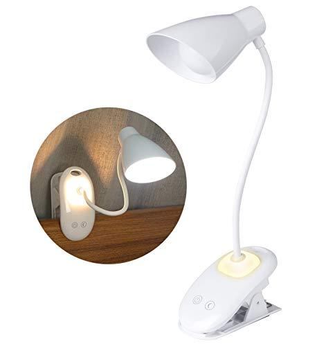 Leselampe Buch Klemme, Yuanj Leselampe LED mit 16 LEDs, USB Wiederaufladbar LED Buchlampe mit Nachtlicht, Touch-Licht zum Lesen, 3 Helligkeit, 360° Flexibler Schwanenhals, für Schlafzimmer, Büro.