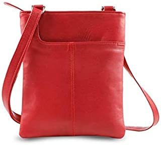 Real Leather Soft Shoulder Cross Body Bag for Ladies Gents Black Brown New