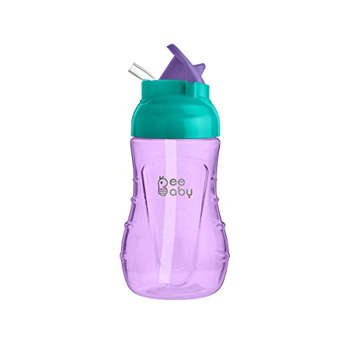 Beebaby 250Ml Flippy Soft Silicone Straw Sippy Cup (Violet)