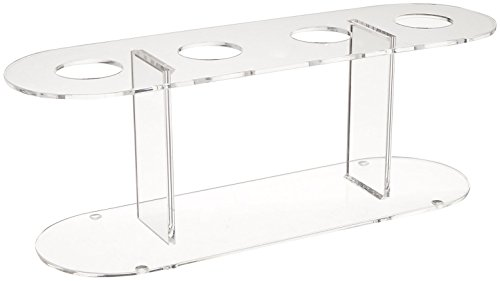 Winco Acrylic 4-Hole Ice Cream Cone Stand,Clear,Medium