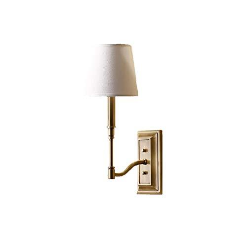 American Village Wandlamp, alle bronzen slaapkamer, bedlamp, spiegel, voorlamp, Europese stijl, landelijke woonkamer, slaapkamer, eenpersoons, wandlamp, spiegel, licht, energiebesparend