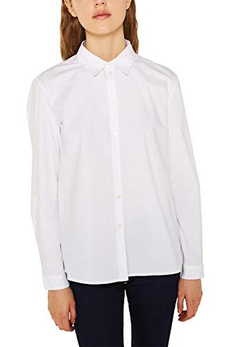 edc by ESPRIT Damen 999Cc1F804 Bluse, Weiß (White 100), X-Large (Herstellergröße:...