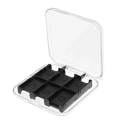 Gazechimp Estuche para Tarjeta de Juego Compatible con Switch, con 12 Cartuchos de Juego Soporte Protector Duro para Carcasa de PC - Claro