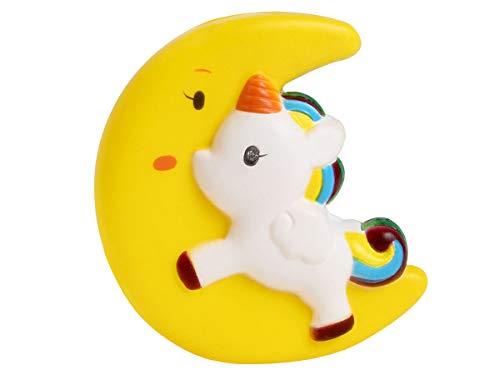 Alsino Squishies Squishy Anti Stress Squishie Knautschi Squeeze Spielzeug Slow Rising zum Drücken Stressabbau Kinder & Erwachsene, Variante wählen:SQ-89 Mond Einhorn