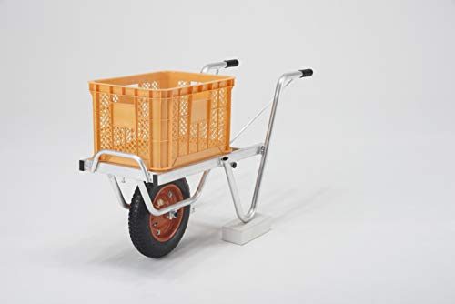 ALINCO(アルインコ) アルミ製台車(コンテナカー) SKX01 1コンテナ積載用 一輪車タイプ 耐荷重100kg 軽量で丈夫なアルミ合金製
