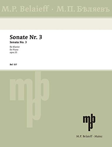 Sonate Nr. 3: fis-Moll. op. 23. Klavier.