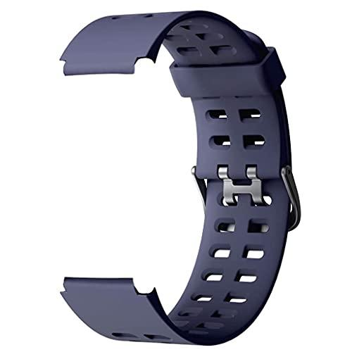 Correas Repuesto para ID205L, Durable y Suave Silicona Banda Correa de Reemplazo (23mmm) compatible con Pulsera Reloj Inteligente ID205, ID205L, ID205S Universal (Azul)