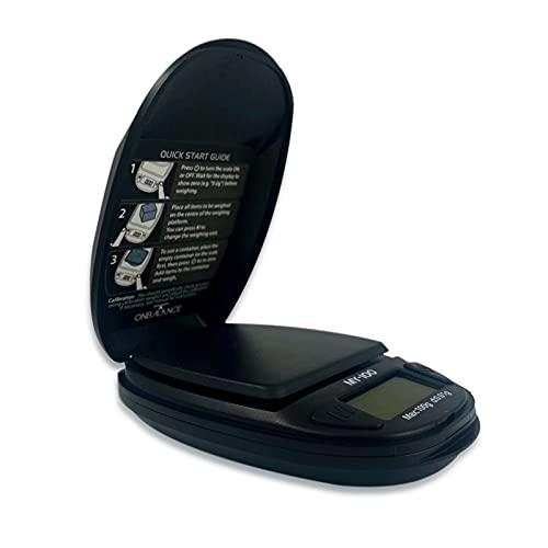PAIDE P Báscula Digital de Precisión, Báscula con gramos para Cocina Joyería, Balanza Precisión Inteligente, Peso digital de bolsillo, Tara con pantalla LCD. (MY-100)