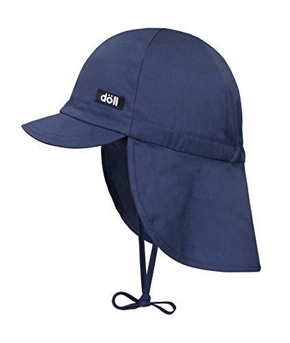 Döll Unisex Baby Bindemütze mit Schirm und Nackenschutz Mütze, Blau (Bijou Blue|Blue 3080), 49