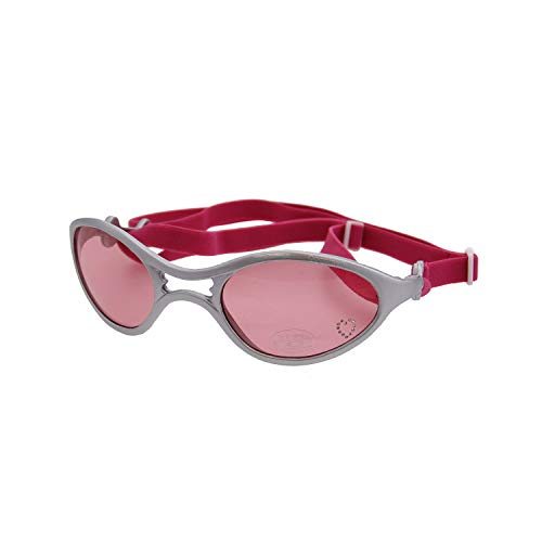 Doggles - K9 Optix Rubber Sunglasses for Dogs - Silver with Pink Lens (Medium)
