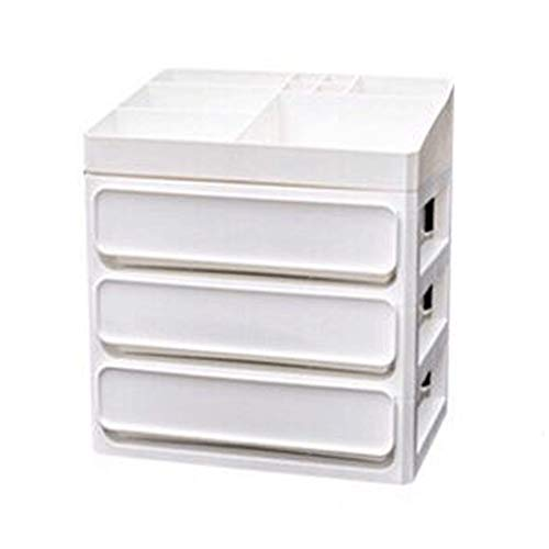 Boîte de rangement YQ Grande capacité de Type tiroir cosmétiques Commode de Bureau en Plastique Multi-Couche Rack (Size : S)