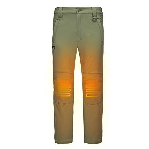 DEWBU Pantalones Calefactable con 7.4v Batería Soft Shell Eléctrica Pantalones Calefactores para...