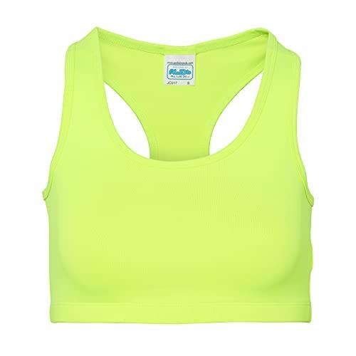 N2 Top corto – Sujetador deportivo para mujer de alto impacto, parte superior de entrenamiento de cuello alto y largo deportivo – Camiseta ideal para entrenamiento de yoga y gimnasio