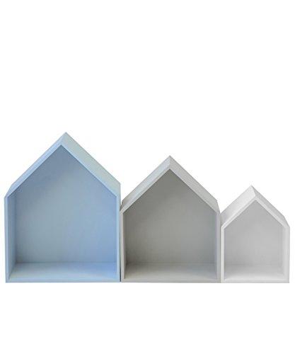 13Casa Maison B3 - Juego de 3 estantes (37,5 x 29 x 12 cm, T