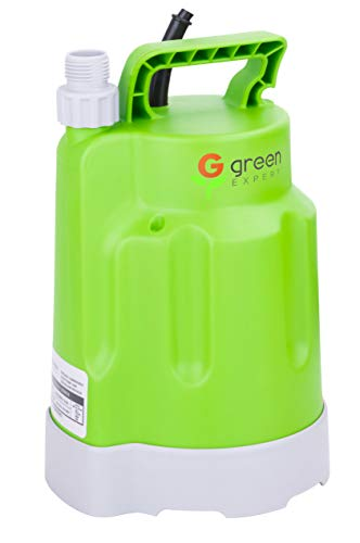 Green Expert 203618 1/4HP Submersible Utility Pump High Flow 1585GPH for Quickly Water Removal Household Drainage Pump for Home Suit to Garden Hoses 25ft Long Cord Easy Installation