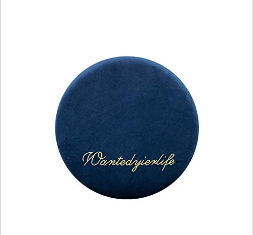 DUIPENGFEI Japanese-style velvet cushion, breathable office chair cushion, bay window cushion, round memory foam padded sofa cushion, 40 * 40 * 4.5cm, navy blue