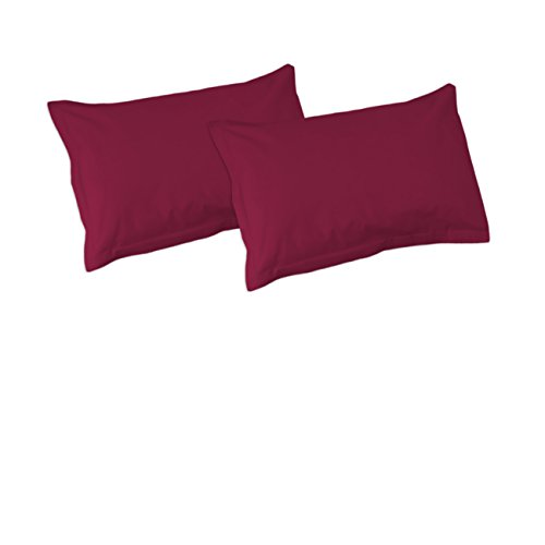 SoulBedroom Bordeaux Rot 100% Baumwolle 2er Set Kissenbezüge 50x90 cm
