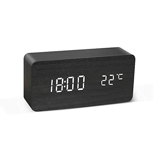 YSYSZYN Despertador Reloj Despertador LED Mesa de Reloj Mesa Control de Voz Control Digital USB USB Powered Desktop Relojes de Escritorio (Color : 7)