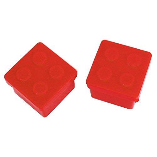 プライムナカムラ ブロックミニケース2個セット (RD) ミニサイズ お弁当 調味料 調味料入れ 醤油 ソース ドレッシング タレ (KA)
