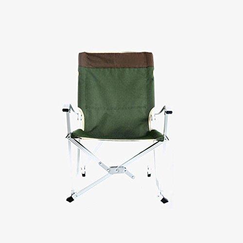 Chaise Longue Chaise pliante alliage d'aluminium ultra léger avec dossier Chaise de pêche Chaise longue de pont portable Chaise de plage (Couleur : Vert)