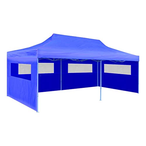 Festnight Partytent pop-up inklapbaar Waterdichte Canopy Garden Gazebo Marquee Tent voor Outdoor Wedding Garden Party 3x6 m blauw