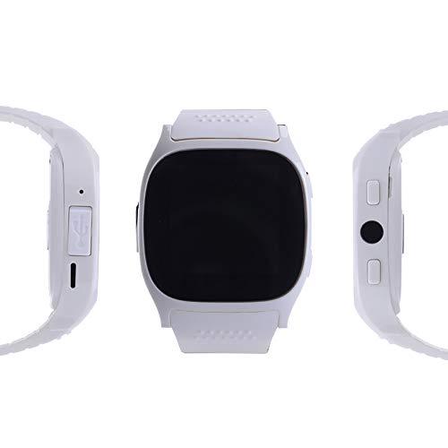 Clearlove77 Anwendbar Auf Apple IOS Android Dual System Smartwatch, T8M Bluetooth-Telefonuhr Herzfrequenz Blutdruck Armband,Weiß