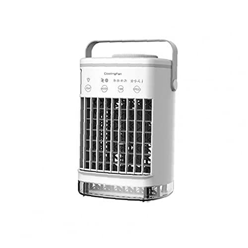 Sraeriot Mini Acondicionador De Aire Portátil Usb Desktop Air Cooler Humidificador Purifier Ventilador (sin Adaptador), Hogar Inteligente