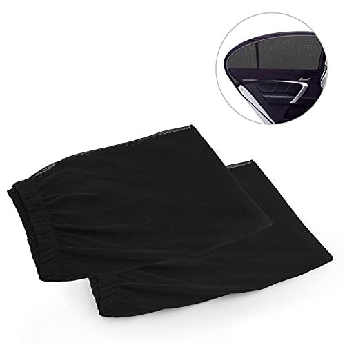 LYUNIT Tendine Parasole Auto Bambini - Protezione Solare 99% dai Raggi UV, 2 Pezzi Tenda Parasole Universale per Finestrino Laterale, Facile da Installare, Tendine Parasole Laterali per Molti Veicoli