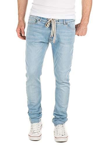 Yazubi Herren Sweathose in Jeansoptik Rick - Skinny Fit - Jogginghose in Jeans-Look, Blau (Blue Shadow 4020), W28/L34