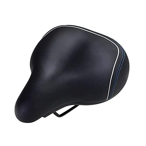 Asiento de Bicicleta de Gel, cómodo, de Gran tamaño, para Asiento de Bicicleta - Sillín de Bicicleta súper Grande y Ancho con cojín Suave Que Mejora la Comodidad de los sillines de Bicicleta, Mejora