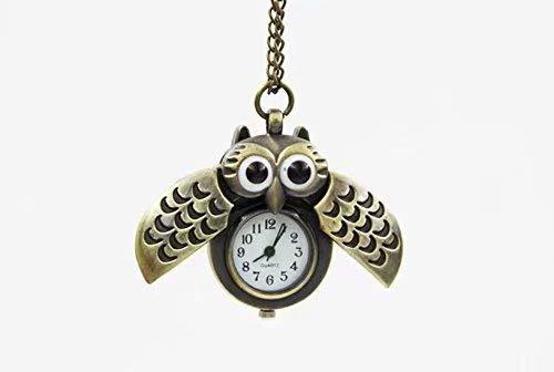 Everything Collana  Gufo  collana vintage, orologio da tasca