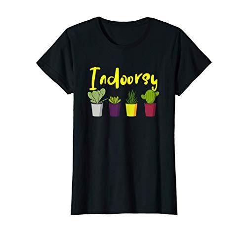 Damen Kakteen Sukkulenten Zimmerpflanzen T-Shirt