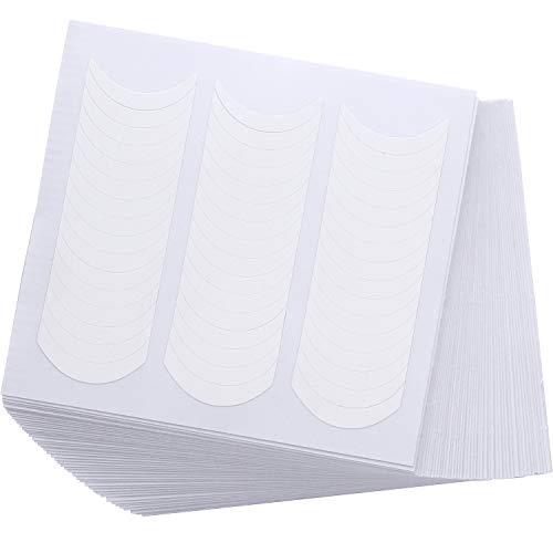 50 Hojas de Pegatinas de Uñas Francesas Plantillas de Uñas Manicurar Blancas...