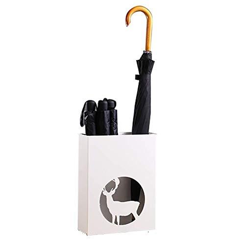 Unknow Paragüero Creativo para el hogar, paragüero pequeño de Hierro para Bastones Paraguas plegados, apartamento de Hotel de Oficina (Color: Blanco)