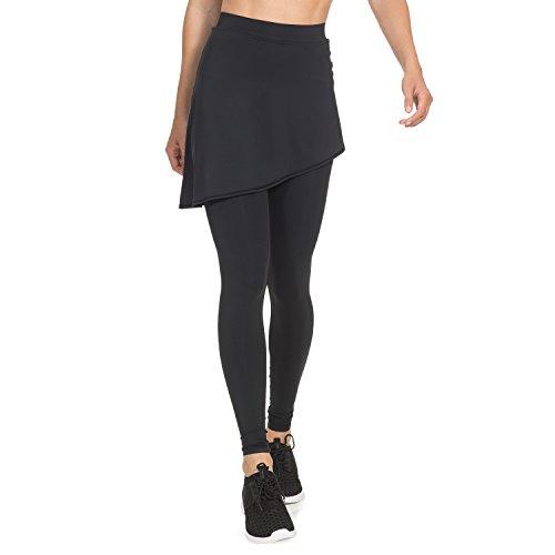Gregster Compressiebroek voor dames, sportleggings inclusief rok met hoge pasvorm
