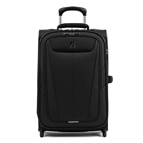 Travelpro Maxlite 5 Softside Lightweight Expandable Upright Luggage, Black, Carry-On 22-Inch