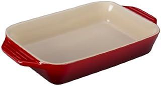 "Le Creuset Stoneware Rectangular Dish, 1.8 qt. (10.5"" x 7""), Cerise (Cherry"